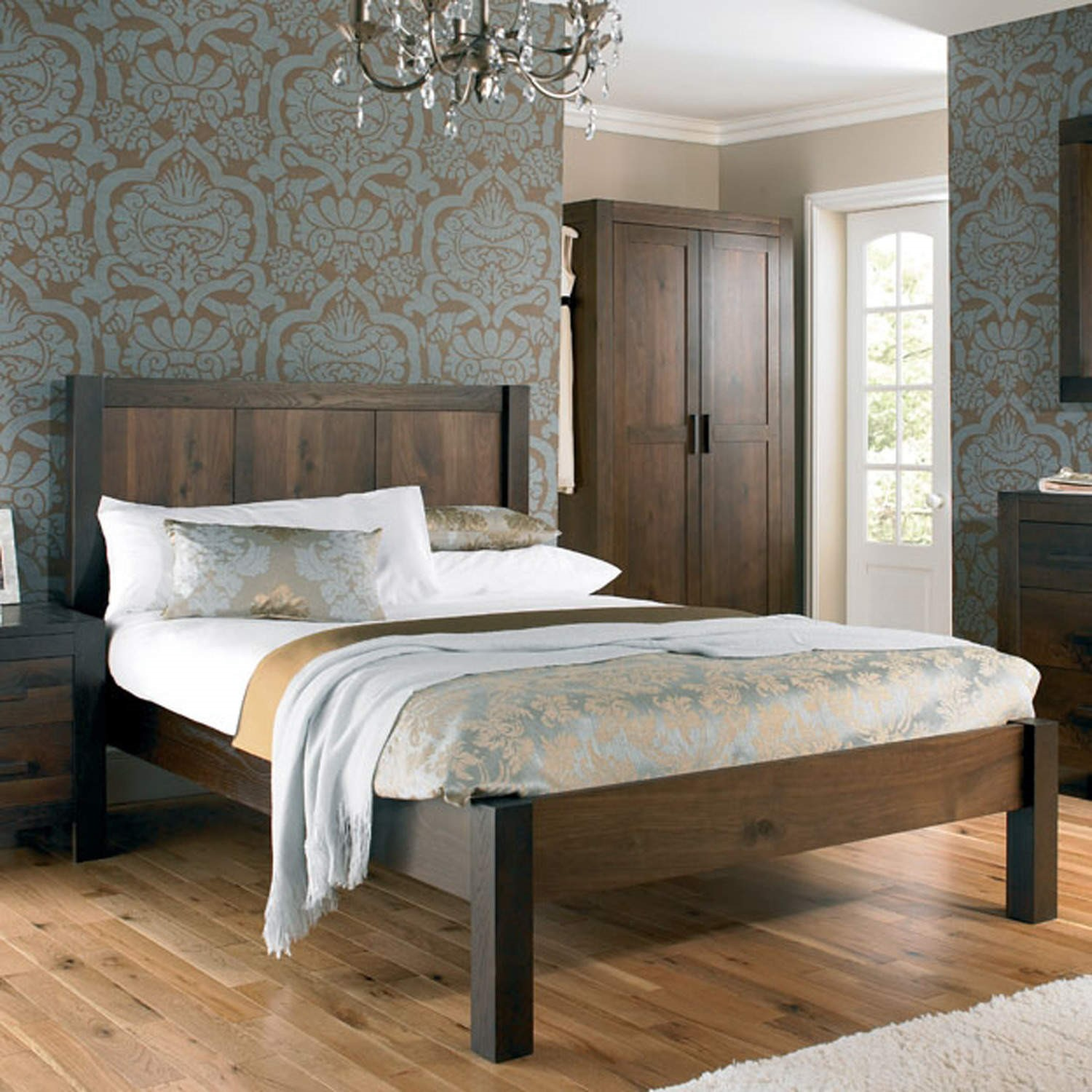 Bentley Designs Lyon Walnut Kingsize Bed Frame Furniture123
