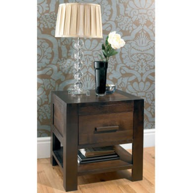 Bentley Designs Lyon Walnut 1 Drawer Bedside Table