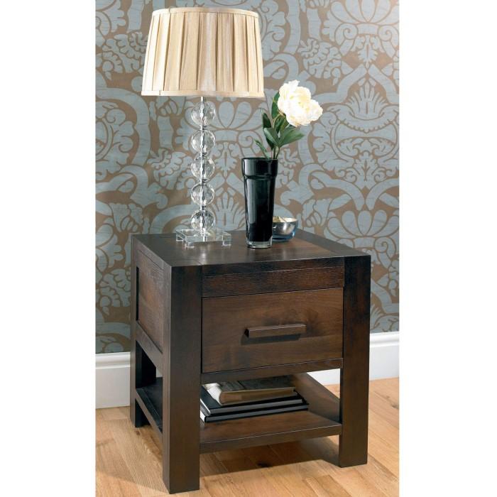 71b24bd6c2 Bentley Designs Lyon Walnut 1 Drawer Bedside Table | Furniture123