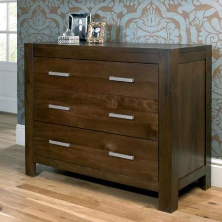 Bentley Designs Lyon Walnut 3 Drawer Wide Chest Furniture123