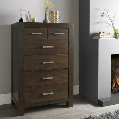 Bentley Designs Lyon Walnut 6 Drawer Chest of Drawers