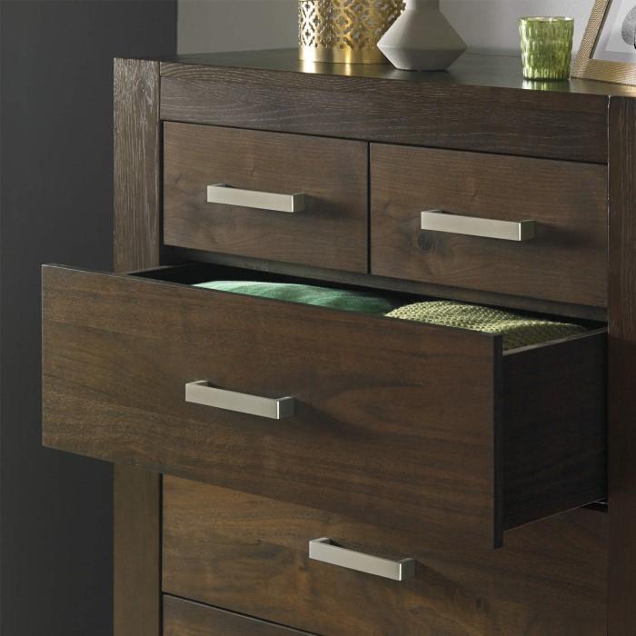 bentley designs lyon walnut 6 drawer chest of drawers furniture123