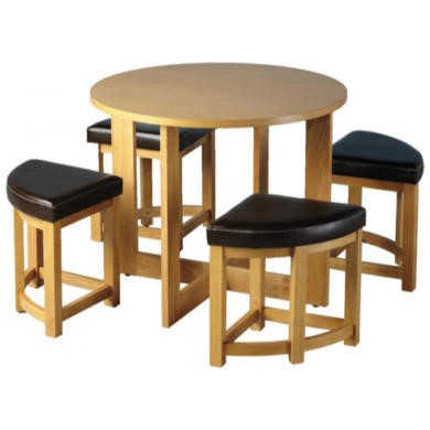 Seconique Susie Round Stowaway Dining Set