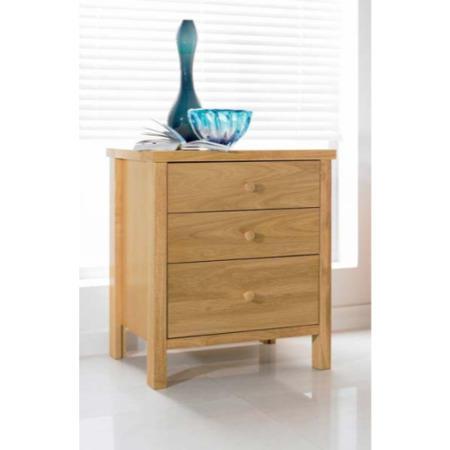 bentley designs atlantis pale oak bedside table furniture123. Black Bedroom Furniture Sets. Home Design Ideas