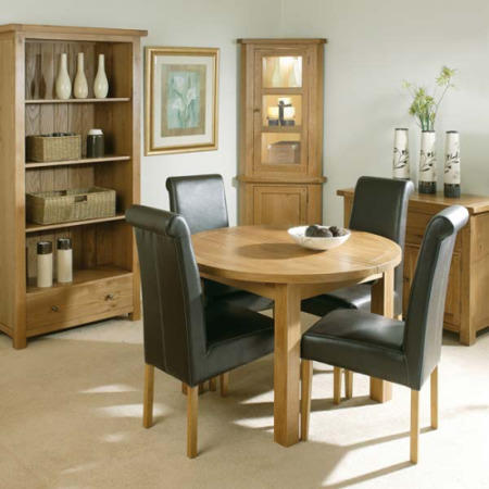 Morris Furniture Grange Round Extending Dining Set With 4 Brown