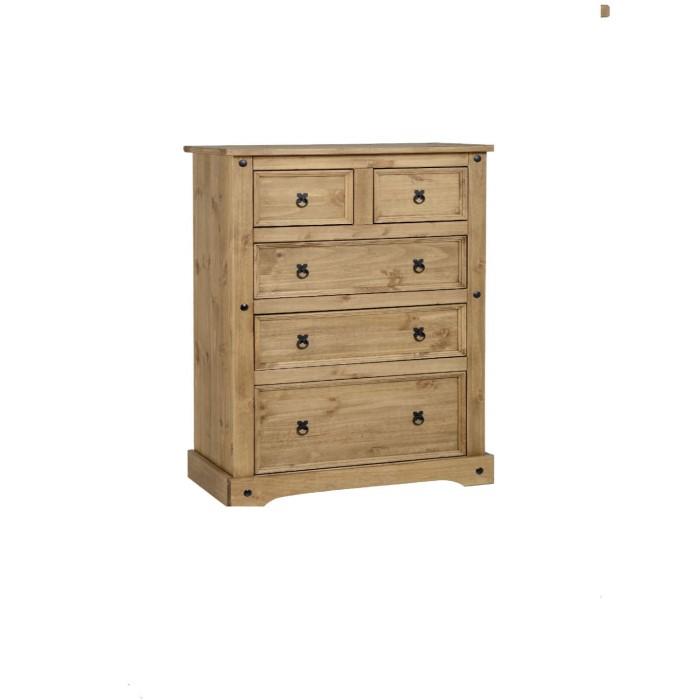 Seconique mexican pine bedroom set furniture123 for Mexican pine bedroom furniture