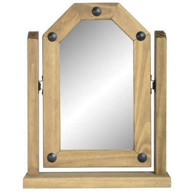 FOL051953 Seconique Original Corona Pine Single Swivel Vanity Mirror
