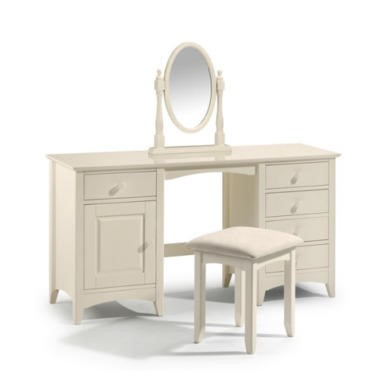 Julian Bowen Cameo Dressing Table in Stone White