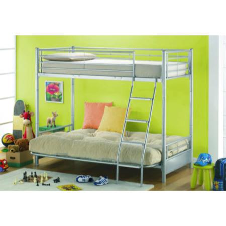 Joseph Metal Futon Bunk Bed With Lime Green Futon
