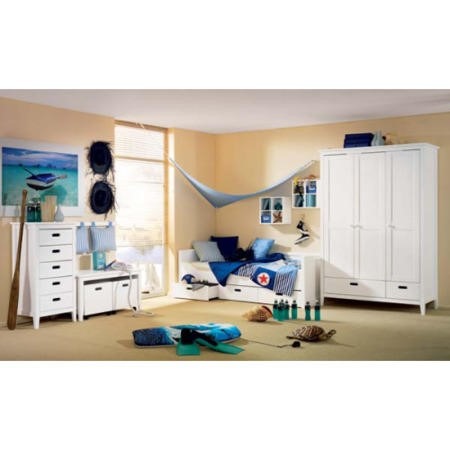 Welle Mobel Cello Bedroom Set With Wall Mounted Storage ...