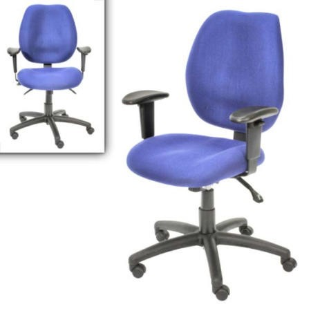Alphason Designs Trinity Ergonomic Operators Chair in Blue