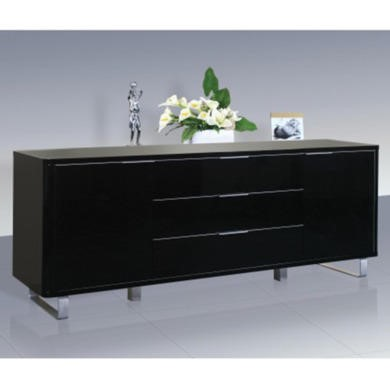 LPD Accent Black High Gloss Sideboard