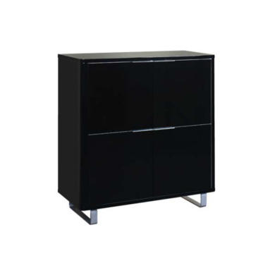 furniture sideboards Accent LPD Accent Black High Gloss 4 Door Cabinet