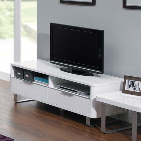 Lpd Accent White High Gloss Tv Cabinet Furniture123