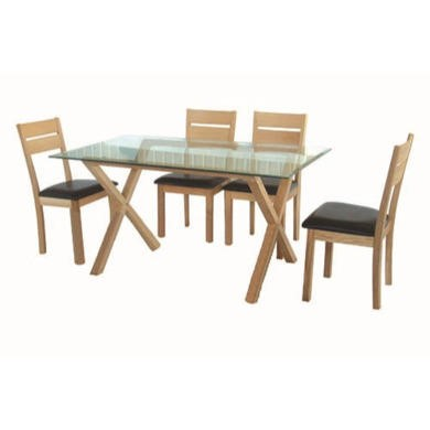 LPD Cadiz Dining Set - with 4 chairs
