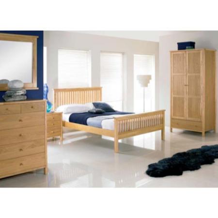 atlantis pale oak 4 piece bedroom set no chest of drawers furniture123