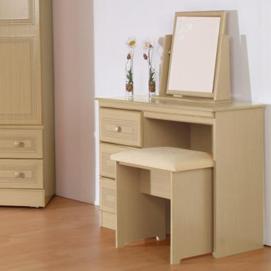 Welcome Furniture Eske Single Pedestal Dressing Table in Light Oak
