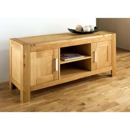 Bentley Designs Lyon Oak Large Tv Cabinet Furniture123