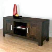 GRADE A2 - Bentley Designs Lyon Walnut Large TV Cabinet