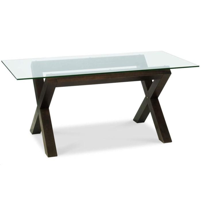 Bentley Designs Lyon Walnut Rectangular Glass Dining Table