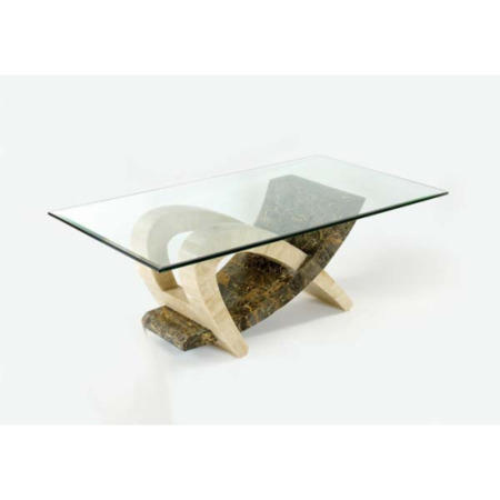 Tsavo coffee table in brown and cream furniture123 for Large cream coffee table