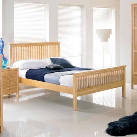 bentley designs atlantis pale oak bed double with 2 bedside tables furniture123. Black Bedroom Furniture Sets. Home Design Ideas