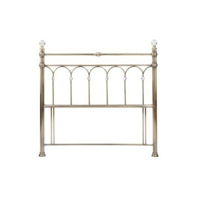 Bentley Designs Krystal Headboard in Antique Brass - double