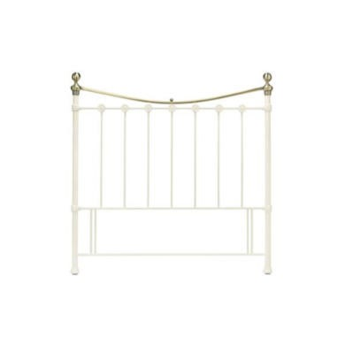 Bentley Designs Amelie Headboard in White - kingsize