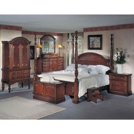Orleans Cherry 4 Poster Bedroom Set Furniture123
