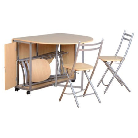 Seconique Newhaven Butterfly Extendable Dining Table & 4 Chairs Set
