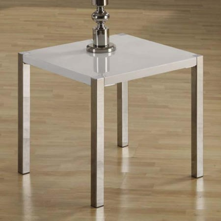 Seconique Charisma High Gloss Lamp Table in White