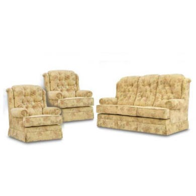 Buoyant Upholstery Highbury 3 Piece Suite in Padova Butter