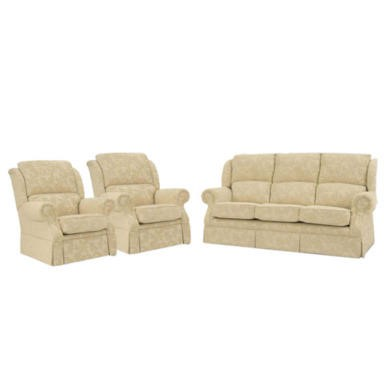 Buoyant Upholstery Park Lane Three Piece Suite - acanthus cream