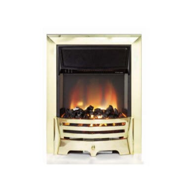 Be Modern Coal Effect Electric Fire in Brass
