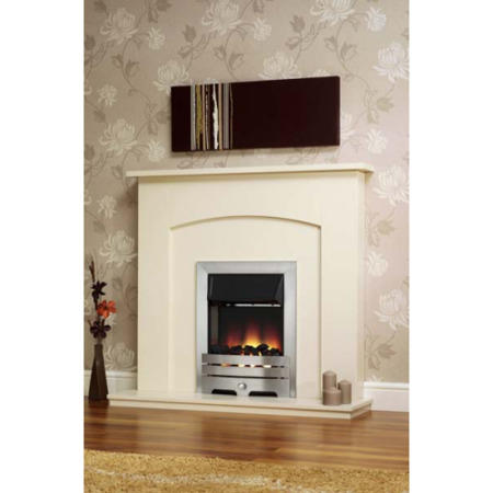 Be Modern Ellison Electric Fireplace Suite In White Furniture123
