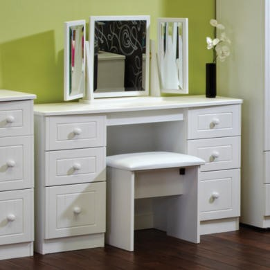 Welcome Furniture Cornwall White 6 Drawer Dressing Table