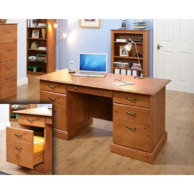 FOL057092 Teknik Office Maison Fine Twin Pedestal Executive Desk