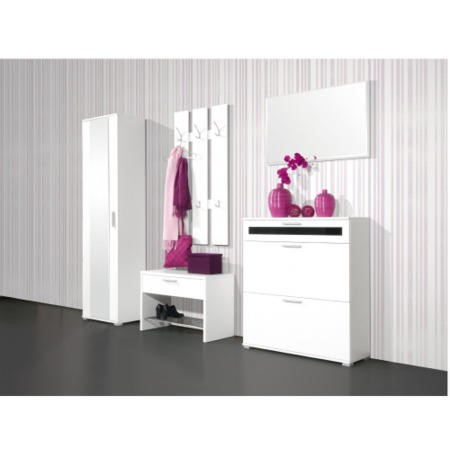 Alaska Shoe Cabinet in White - 16 Pairs