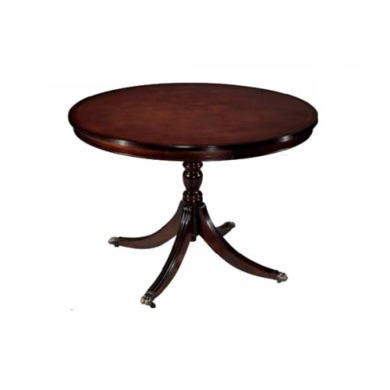 Kelvin Furniture Georgian Reproduction Large Round Dining Table In Mahogany