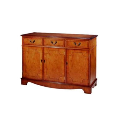 Kelvin Furniture Georgian Reproduction Apron 3 Door Sideboard in Mahogany