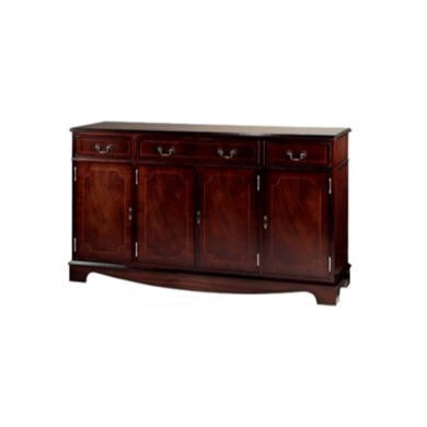 Kelvin Furniture Georgian Reproduction Apron 4 Door Sideboard - mahogany