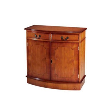 Kelvin Furniture Georgian Reproduction Bow 2 Door Sideboard in Mahogany
