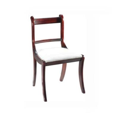 furniture georgian reproduction regency dining chairs pair mahogany