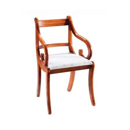Kelvin Furniture Georgian Reproduction Regency Carver Chairs In Yew Pair