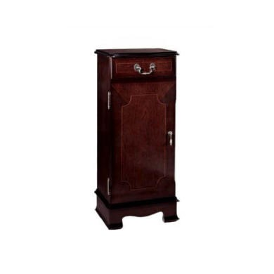 FOL058083 Kelvin Furniture Georgian Reproduction Apron 1 Door CD Unit with Rack in Mahogany