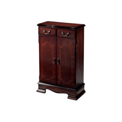 Kelvin Furniture Georgian Reproduction Medium Apron 2 Door CD Unit - mahogany with rack