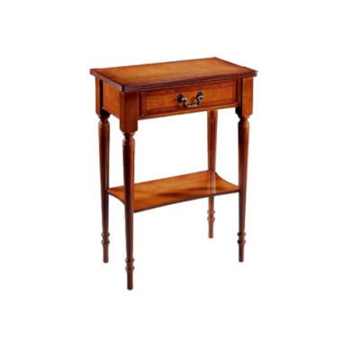 Kelvin Furniture Georgian Reproduction 1 Drawer 1 Shelf Console Table - yew
