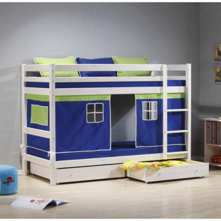 thuka minnie solid pine white storage bunk bed with blue. Black Bedroom Furniture Sets. Home Design Ideas