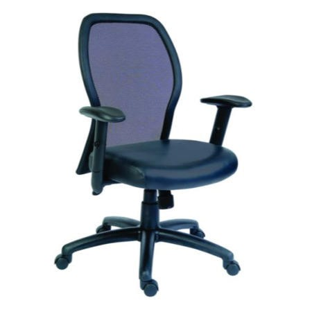 Teknik Office Mizu Mesh and Leather Managers Chair