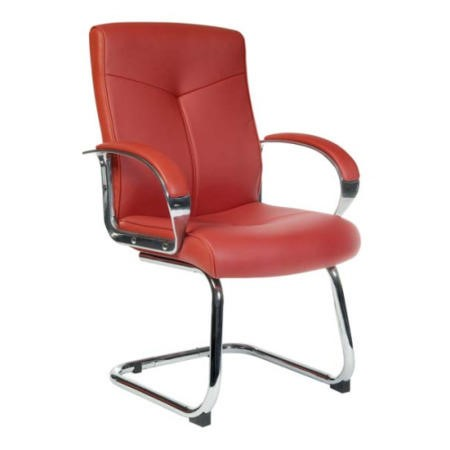 Teknik Office Hoxton Leather Faced Visitors Chair